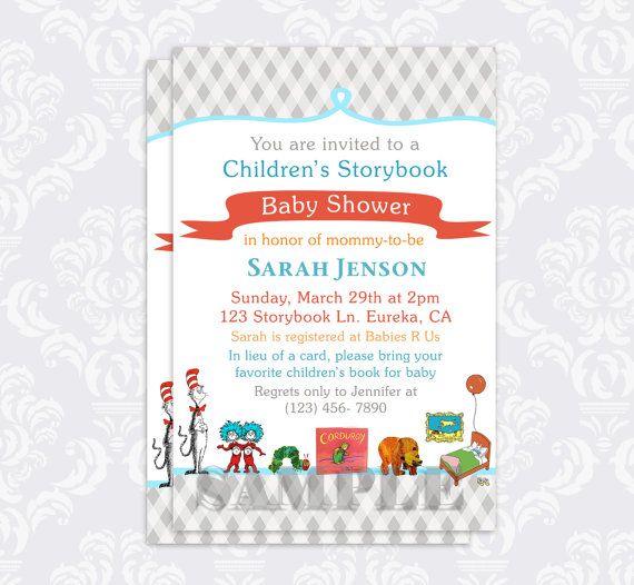 Attractive Storybook Baby Shower Invitation Book Baby By PurplePoppyInvites