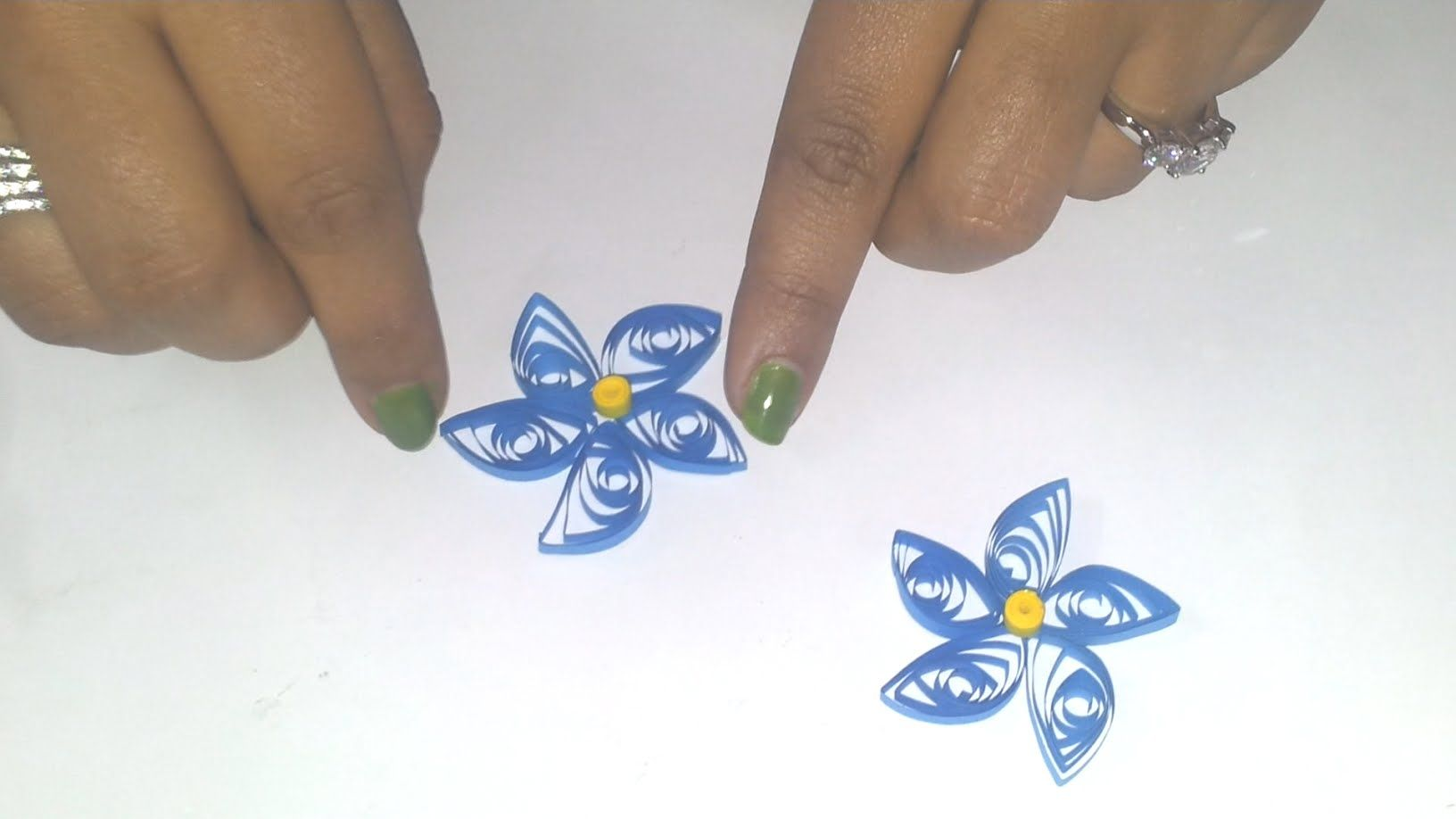 9 To Make A Quilling Flower Part 6 Paper Quilling Tutorials