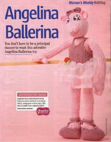 Angelina Ballerina Toy Doll Knitting Pattern Measurements 33cm 13