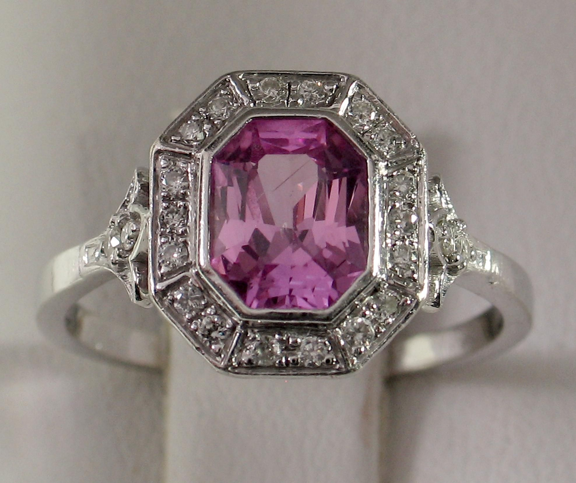 Divine 14kt Natural Pink Sapphire Diamond Ring Natural Pink Sapphire Pink Sapphire Diamond Ring Pink Sapphire