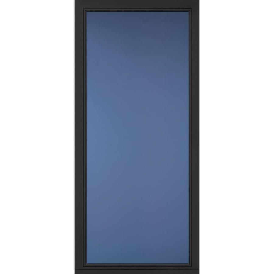 Pella Select Black Full View Aluminum Storm Door Common 36 In X 81 In Actual 35 75 In X 79 875 In Aluminum Storm Doors Storm Door Pella