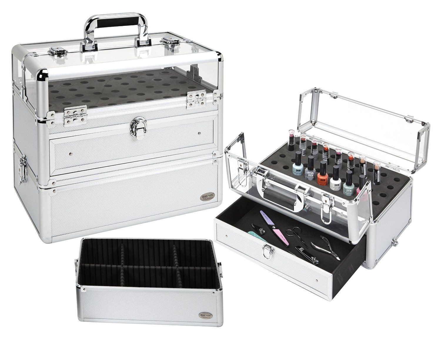 Professional nail artist makeup case silver only 7995 plus professional nail artist makeup case silver only 7995 plus free shipping prinsesfo Gallery