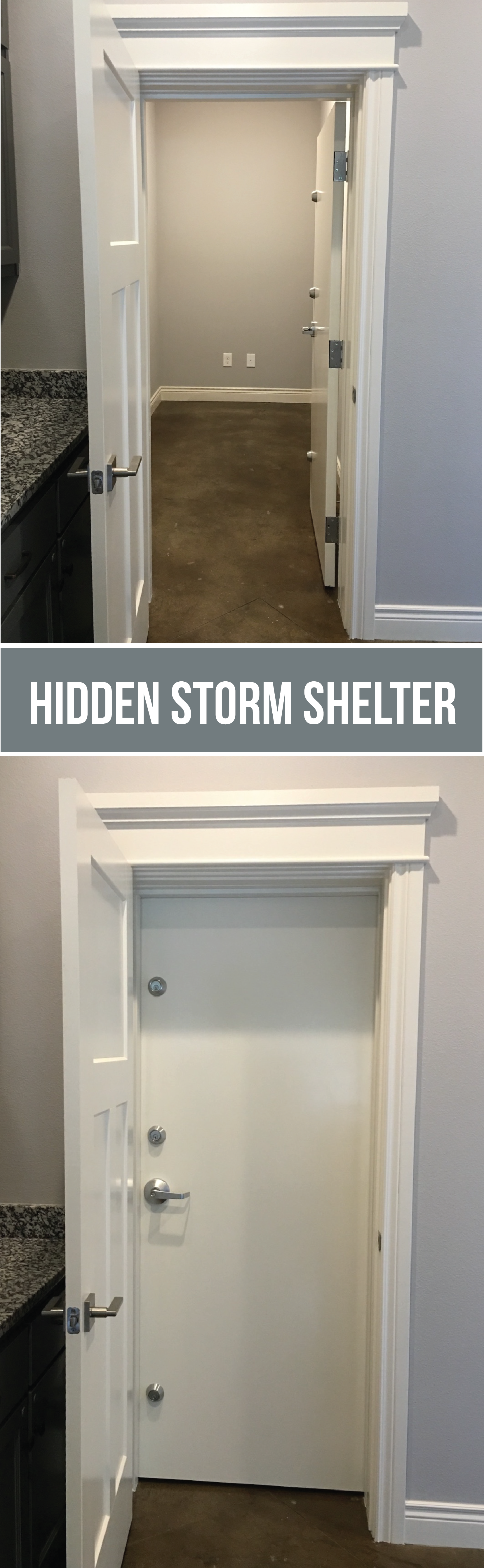 Create A Hidden Storm Shelter/safe Room For Your Family By Adding An Extra  Door