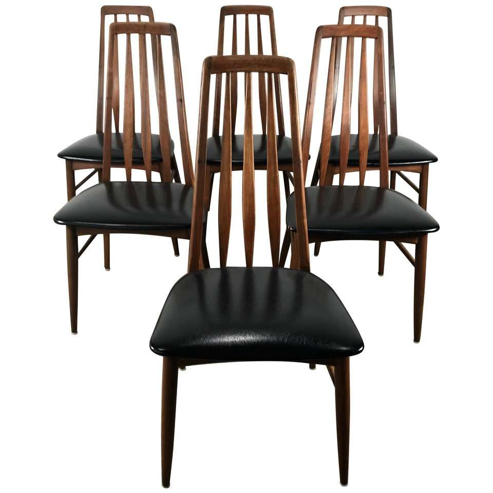 Danish Modern Dining Chairs For Sale Set Of Six Danish Modern
