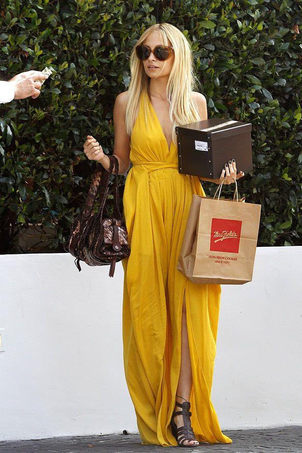 Nicole Richie - Mustard Maxi