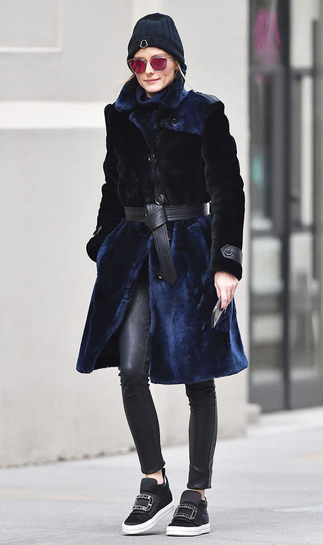 Style Maven : Olivia Palermo's Patchwork Fur and Leather