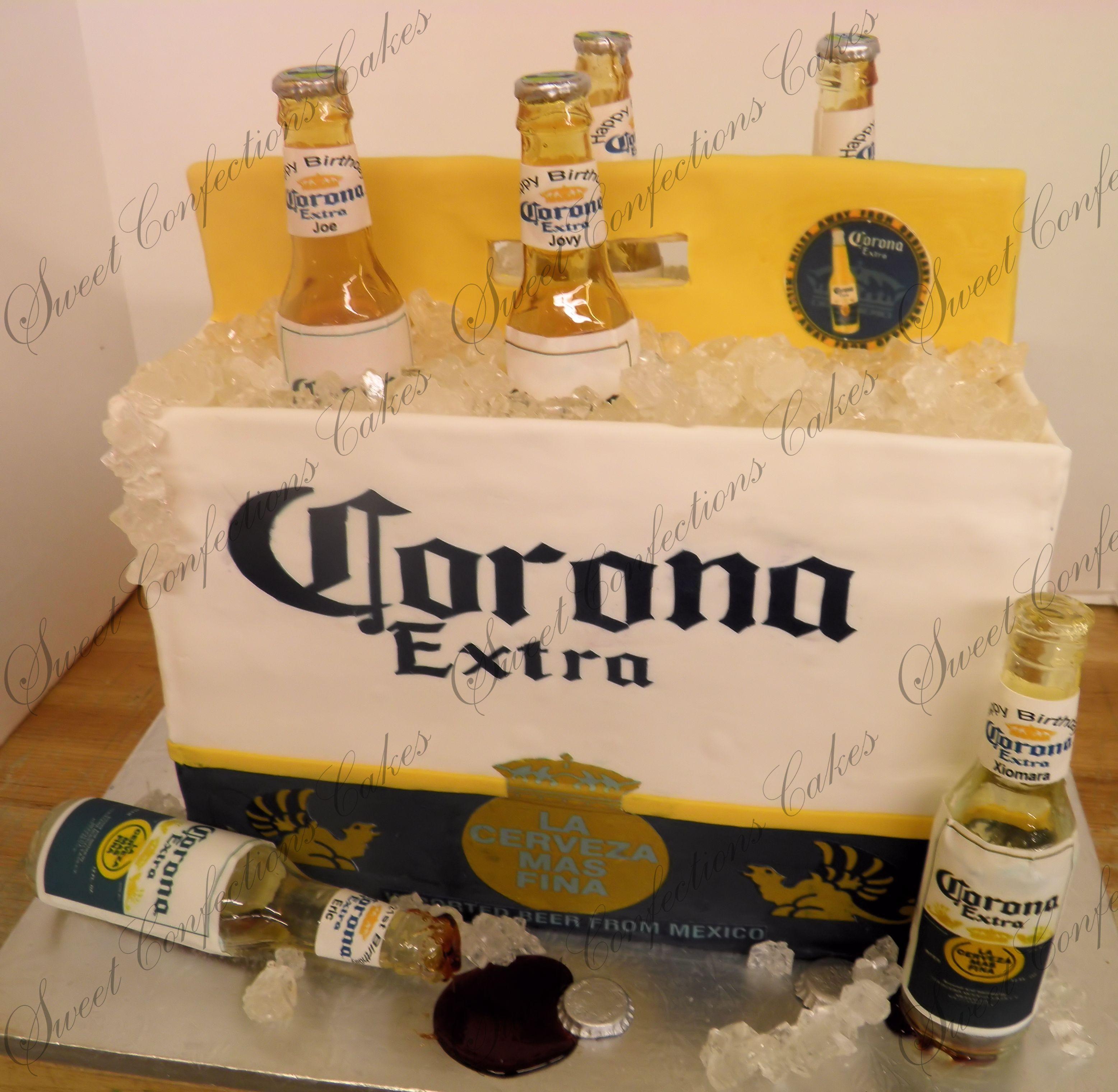 6pack corona beer cake 3d cakes pinterest corona