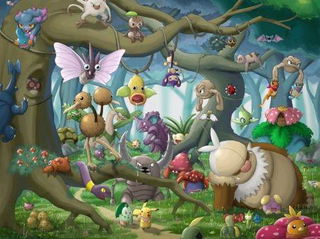 Forest Pokemon Desktop Nexus Wallpapers Pokemon Pokemon Pictures Pokemon Backgrounds
