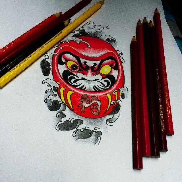 #Drawing #Daruma #Tattoo | ลายสัก รอยสัก และ ลายสักญี่ปุ่น