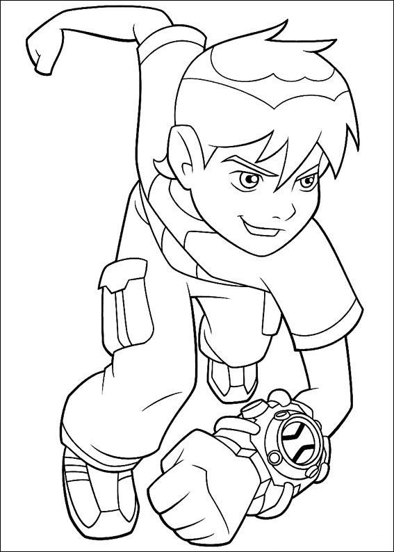 Ben 10 Running And Ready For Change | Ben 10 Coloring Pages ...
