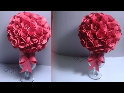 How to make rose crepe paper flowers flower making of crepe paper how to make rose crepe paper flowers flower making of crepe paper paper flower tutorial youtube mightylinksfo