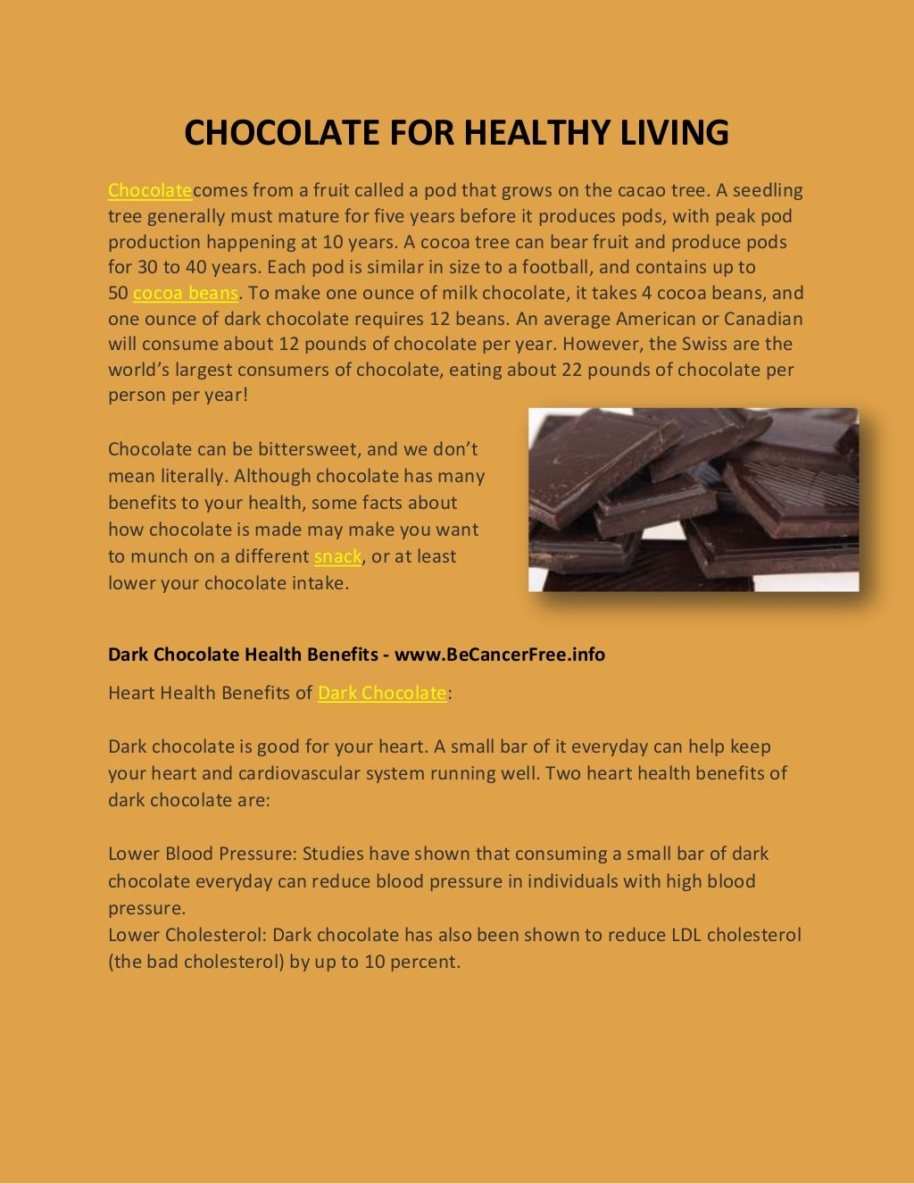 chocolate-20379425 by Arya McLean via Slideshare