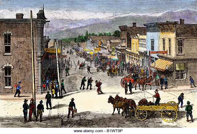 chestnut street in leadville colorado during the mining boom 1870s