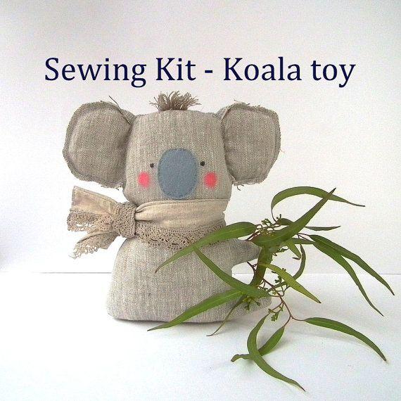 Koala toy, sewing pattern and supplies to make your own plush koala ...