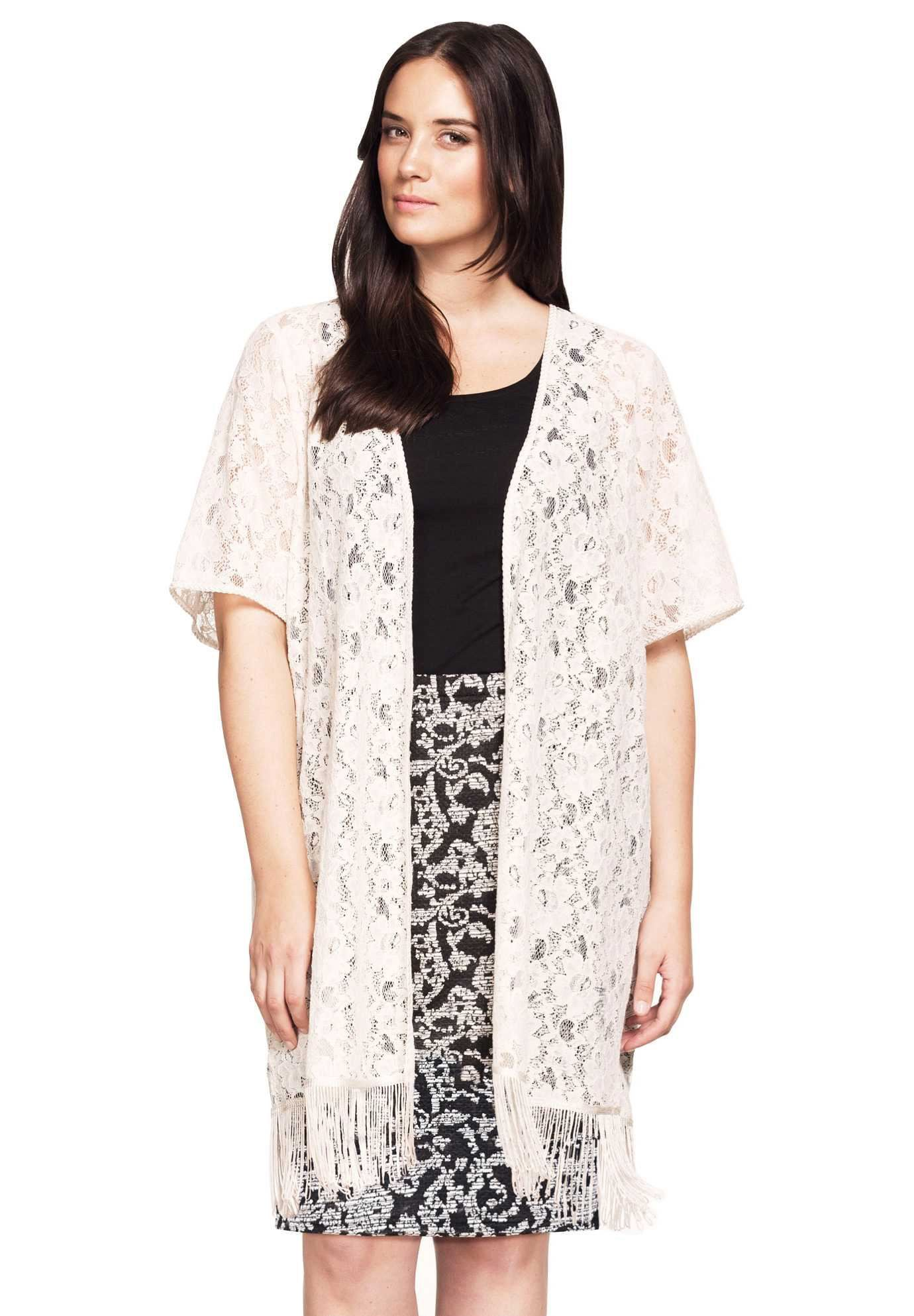 This pretty duster length plus size cardigan can be worn year ...