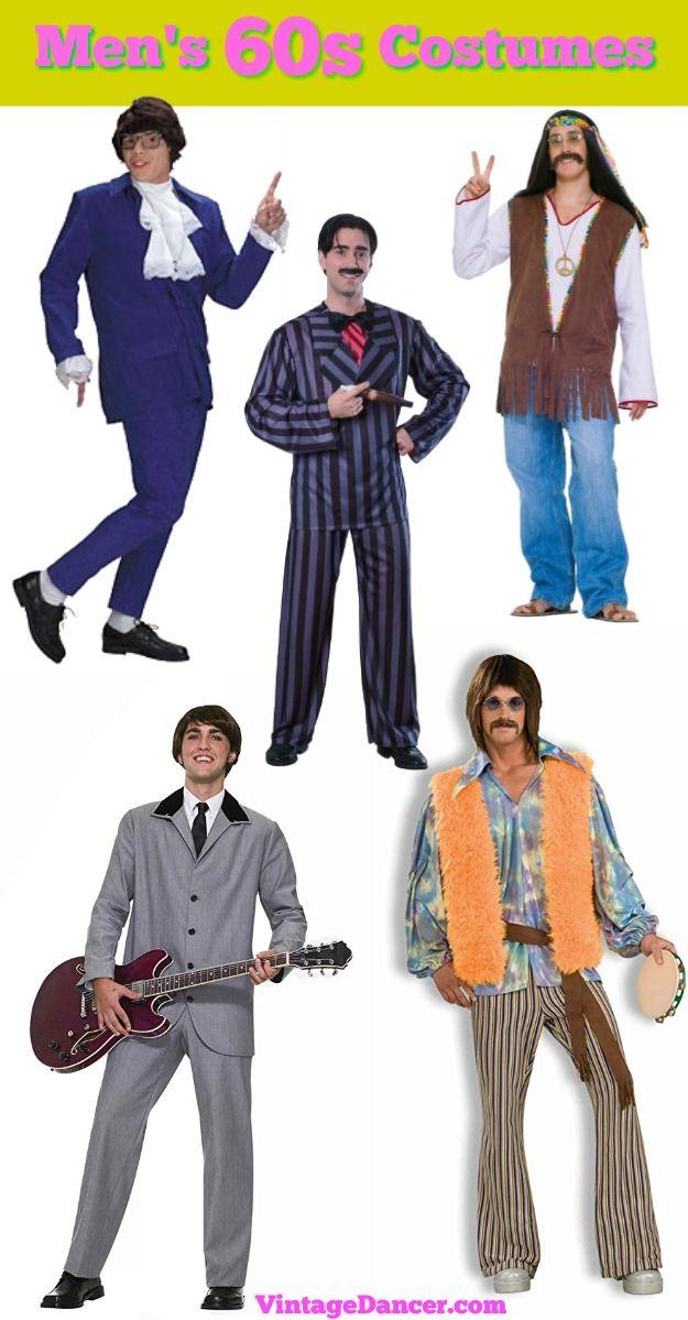 4aa0c9b2c429 60s mens costume idea : hippie, Sonny bono, Beatles, Austin Powers Spy and  more