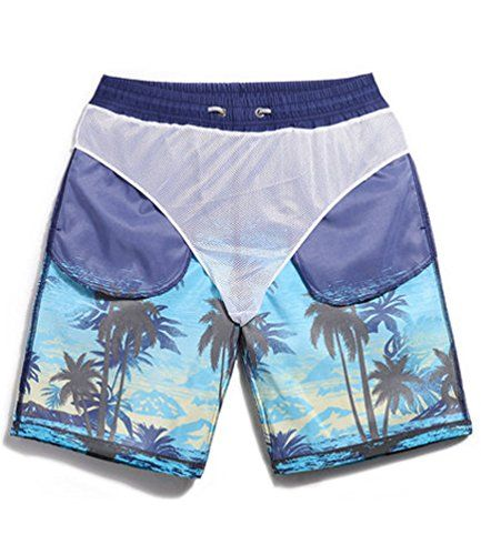 99b8b67c5c SHENGRUI Men's Swim Trunks Quick Dry Bathing Suits Printed Swim ...
