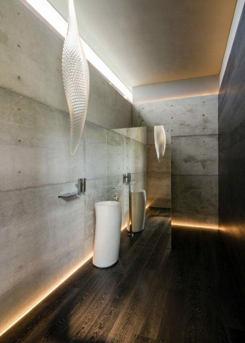 Bad indirekte Beleuchtung Boden  Bathroom  Indirekte