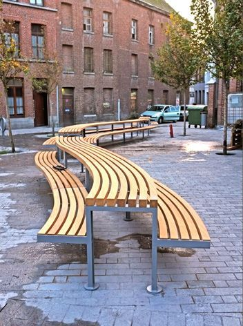 Pin By Nick Simpson On Street Paving Furniture And Surfaces Urban Furniture Design Street Furniture Curved Outdoor Benches
