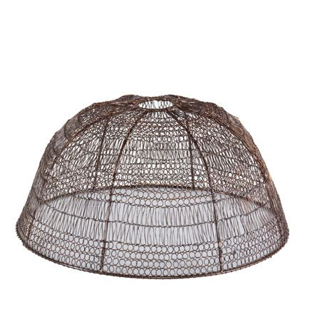 Bb crochet wire lampshade antique bronze 32x17 20 lighting bb crochet wire lampshade antique bronze 32x17 20 greentooth Image collections