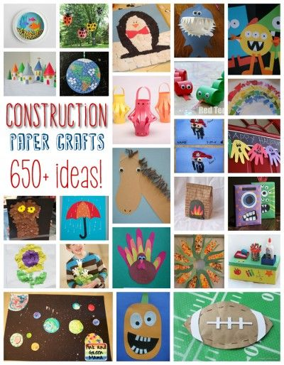 650+ Construction Paper Crafts - Fun Family Crafts Paper