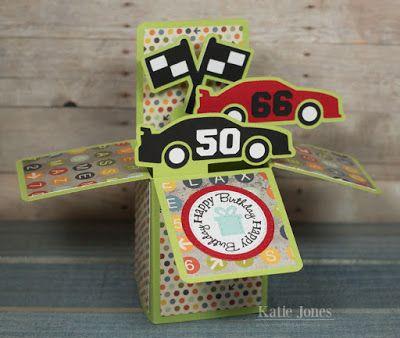 RACE CAR BOX CARD by Lori Whitlock Design ID #61024