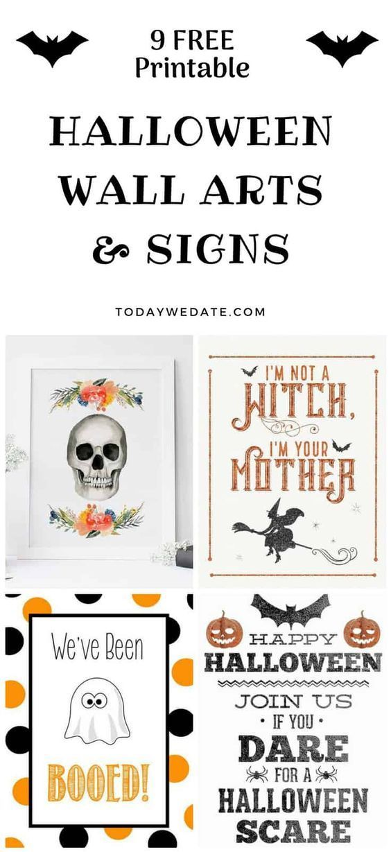 61 Free Halloween Printables That Are Just Awesome Printable Wall - free halloween printable decorations