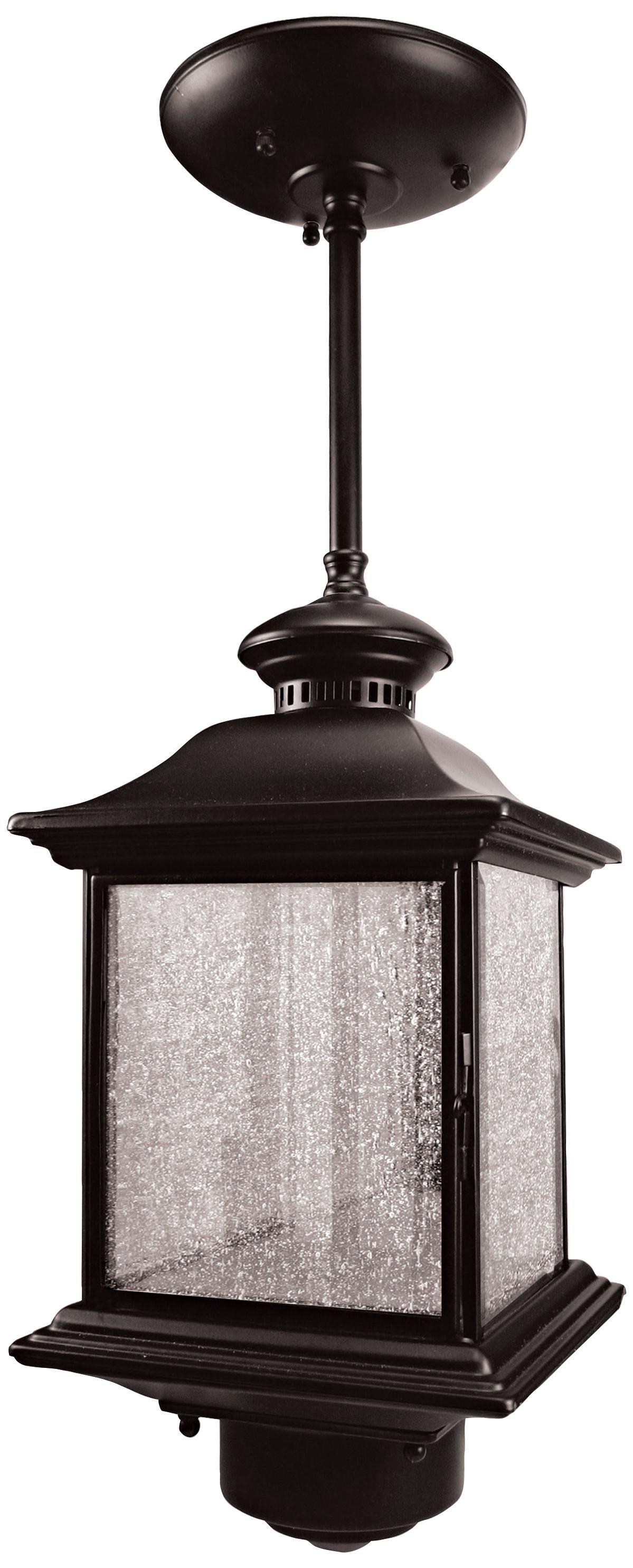 Black Finish 14 High Hanging Outdoor Light H6916 Lamps Plus Outdoor Ceiling Lights Ceiling Lights Motion Sensor Lights Outdoor