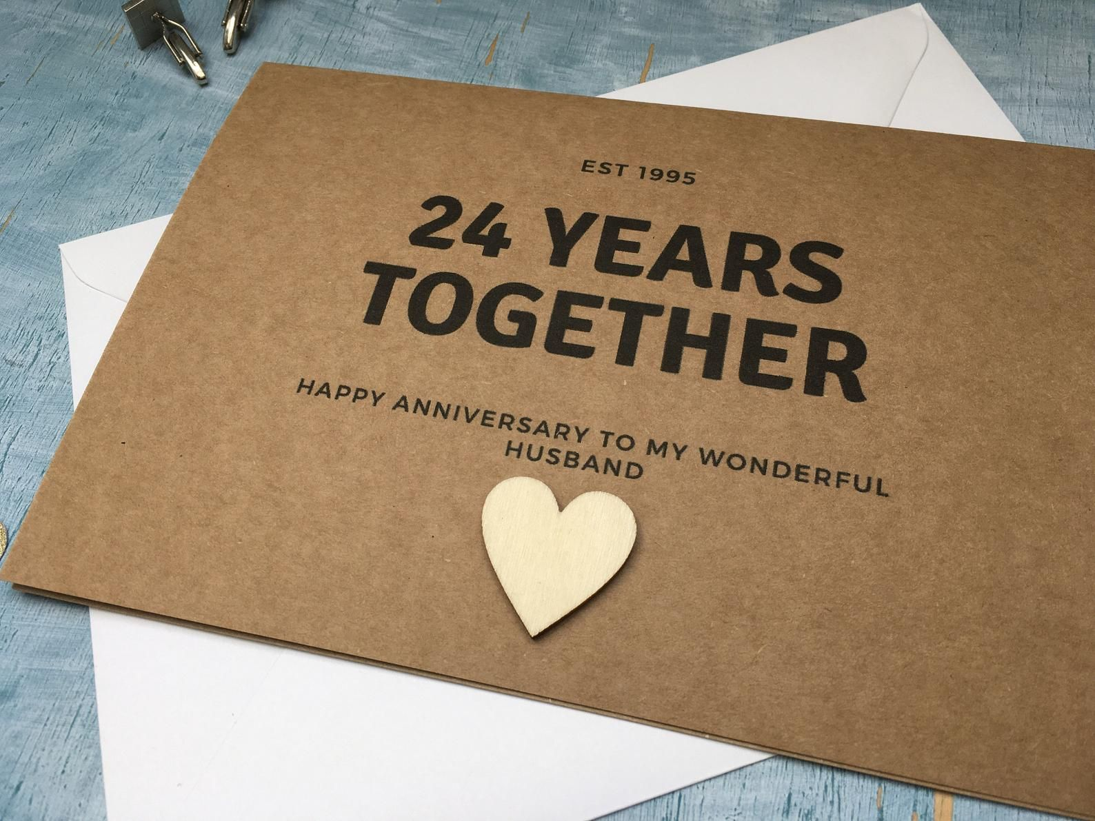 Personalised Custom 24th Anniversary Card 24 Years Together Etsy Anniversary Wishes Quotes Anniversary Quotes For Parents Anniversary Quotes For Husband