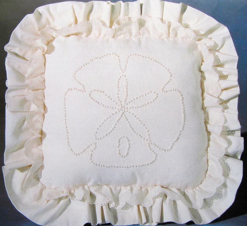 Sand Dollar Pillow Embroidery Kit Candlewicking Cross
