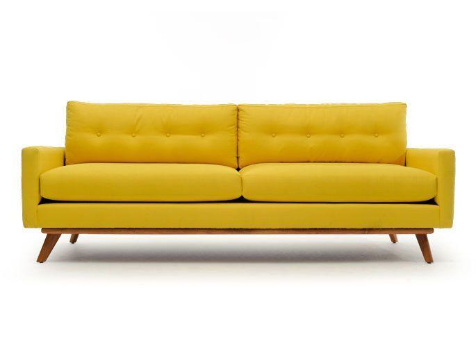 Modern Yellow Sofa | Modern sofa designs, Mid century modern ...