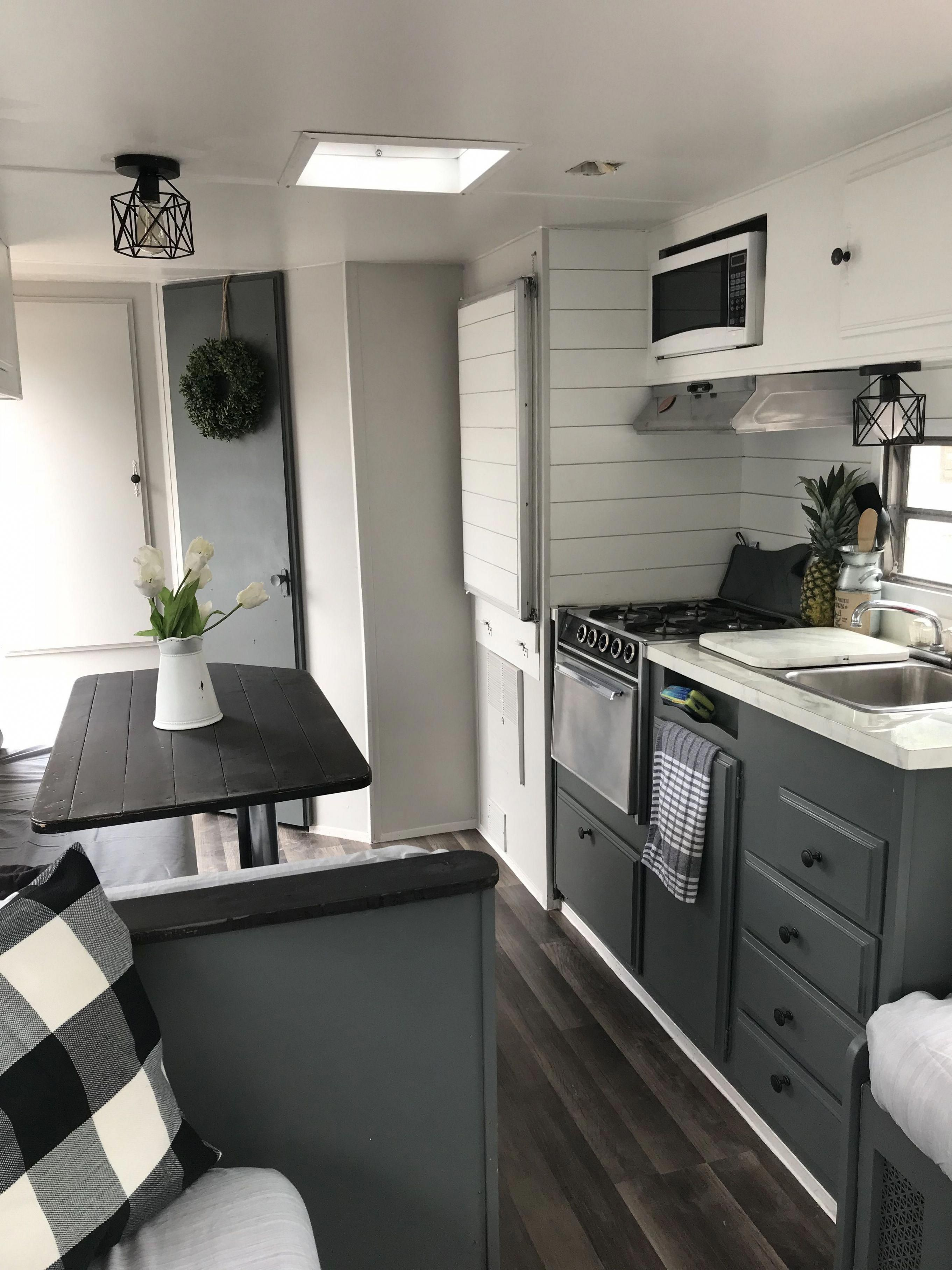 Farmhouse camper remodel ideas ready to happy camper 47 # ... on Small:xmqi70Klvwi= Kitchen Remodel Ideas  id=96880