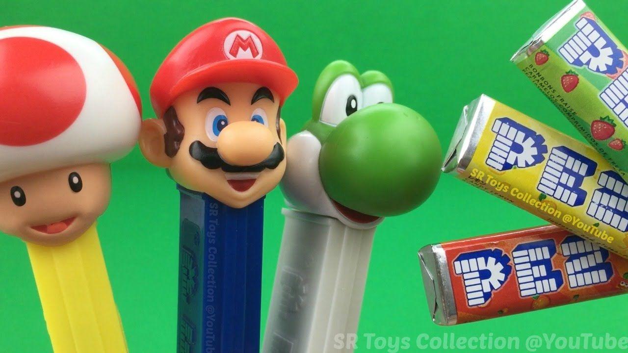 Super Mario Pez Candy Dispensers, Toad, Yoshi and Mario