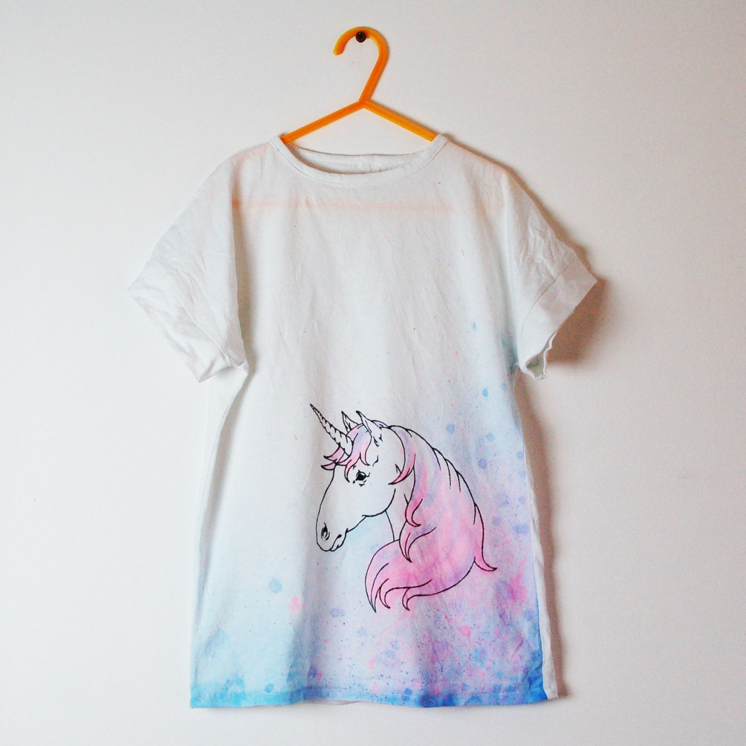 Unicorns Unicorn Large Print Women/'s T-Shirt Dress