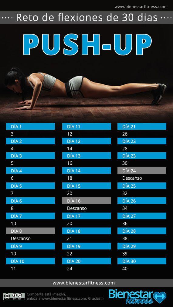 Reto push up de 30 dias for Rutina fitness