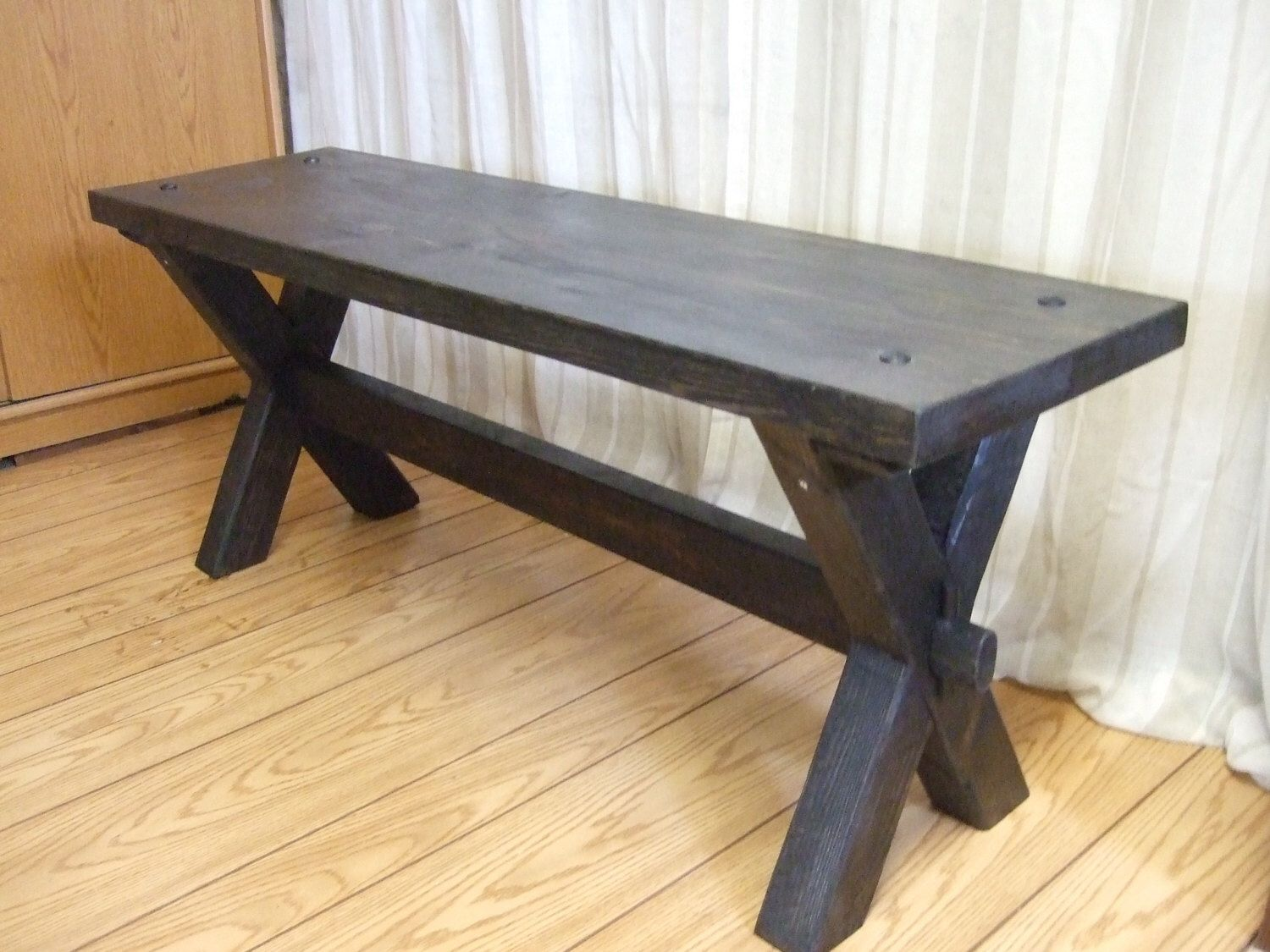 Farmhouse Style Bench Rustic Bench Farm Bench Handmade Bench