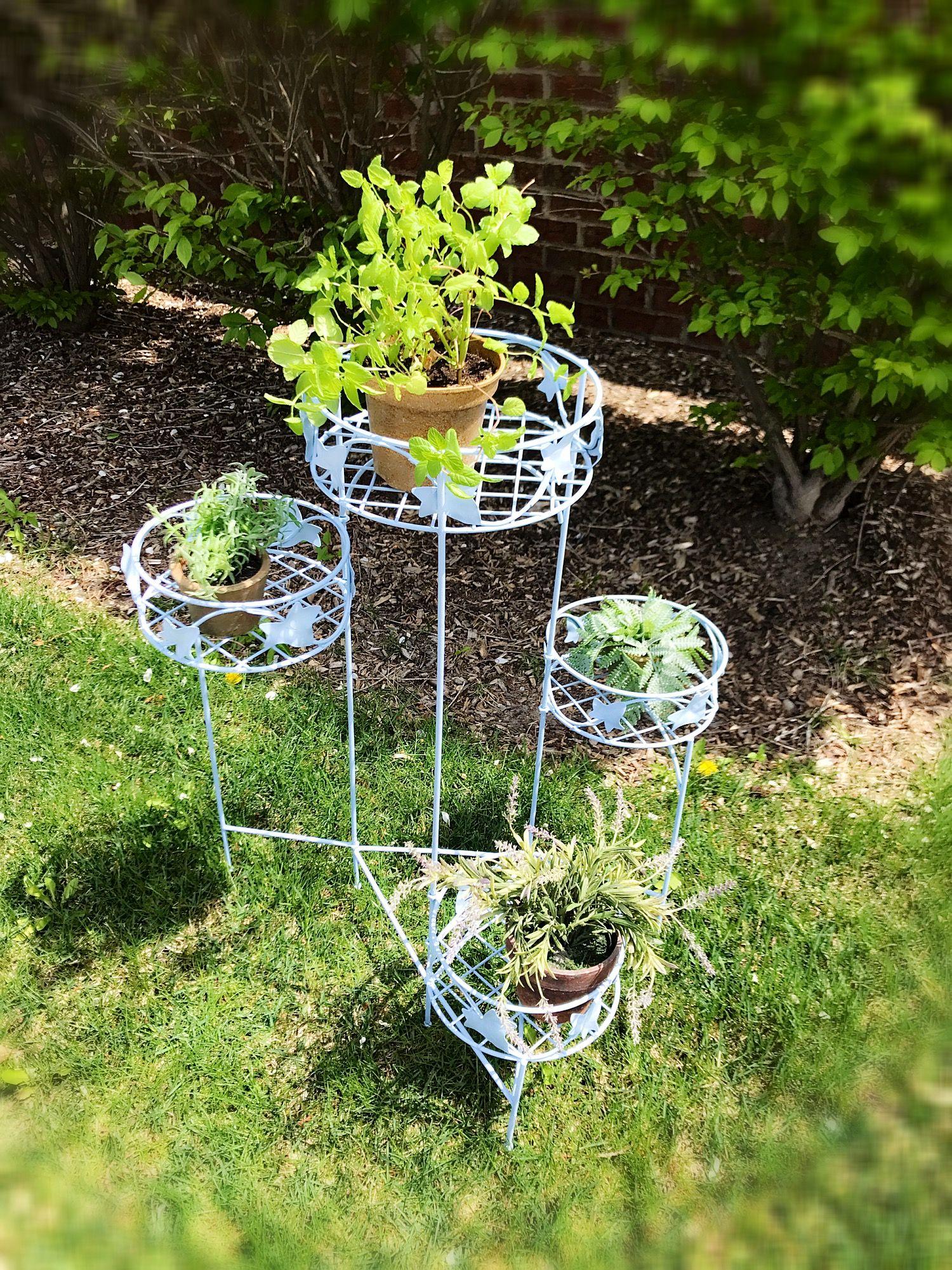 Antique wire plant stand, vintage plant stand , vintage garden plant ...