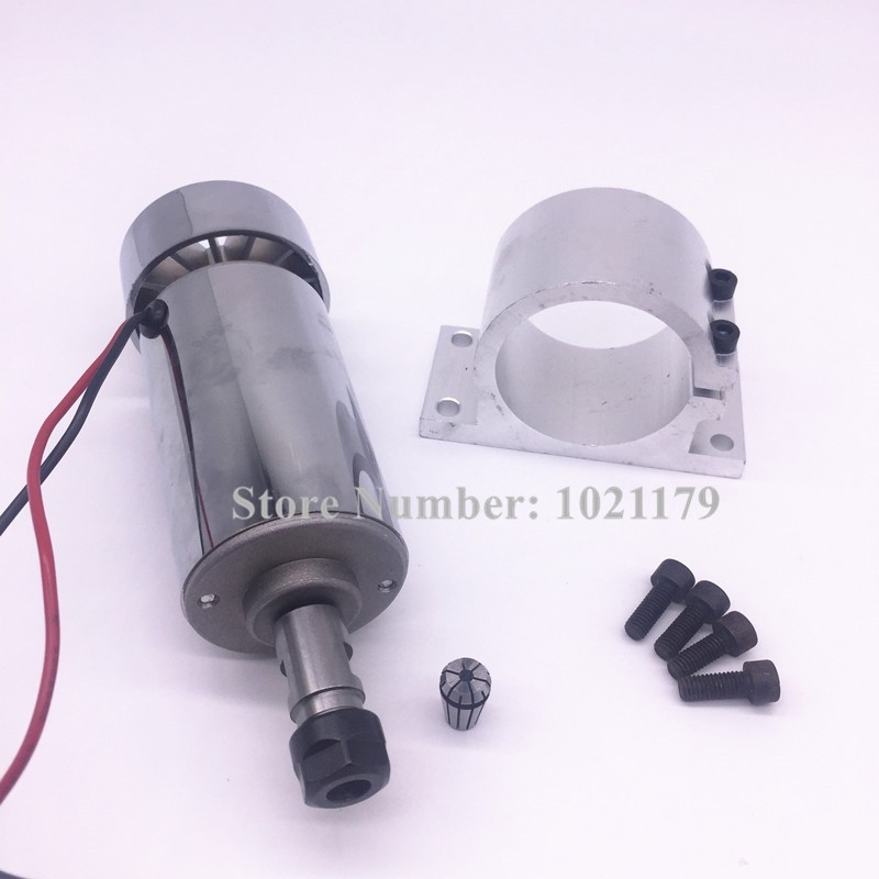 61.80$  Buy now - http://ali6bh.worldwells.pw/go.php?t=32707344367 - 400W CNC spindle kit ER11 chuck DC 12-48v 120mm 400W Spindle motor + Spindle holder + ER11 collet for CNC Engraving Machine 61.80$