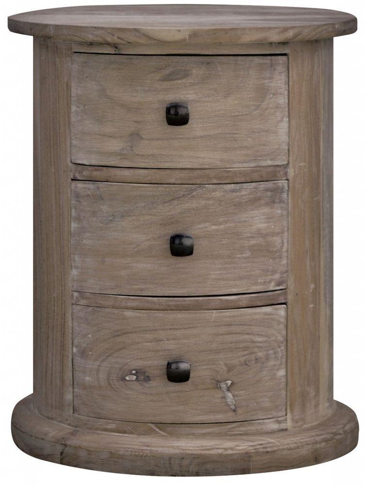 Solid Wood Oak Round Drum Chest Of Drawers Bedside Drawer Livingroom  Furniture In Home, Furniture U0026 DIY, Furniture, Bedside Tables U0026 Cabinets |  EBay