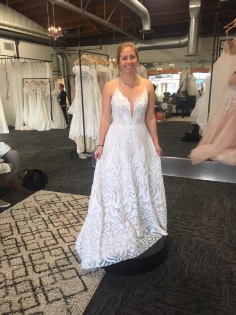 Hayley Paige 'Delta' size 8 new wedding