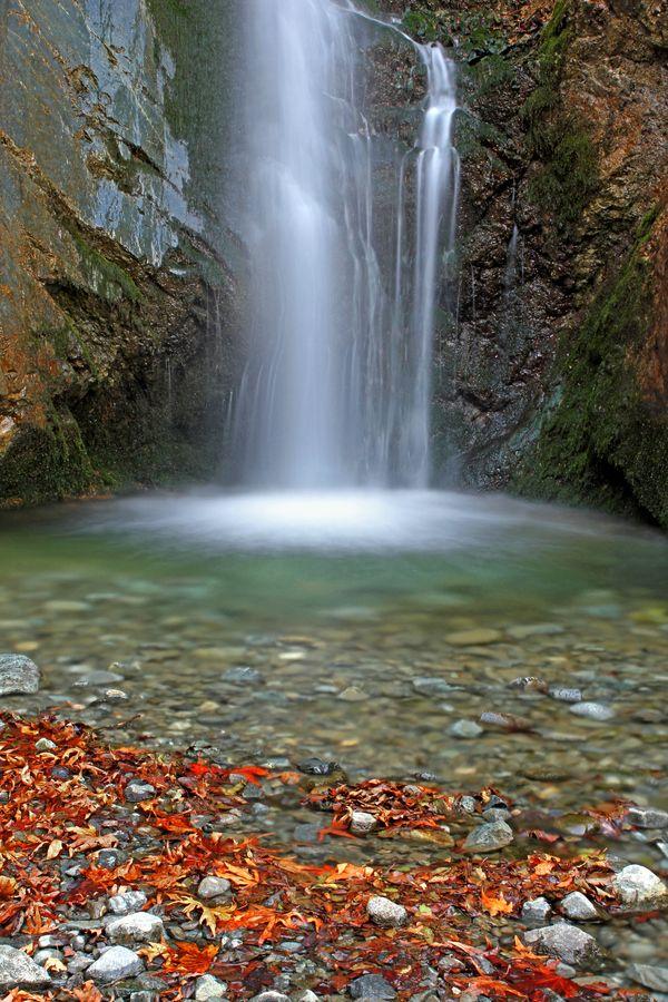 Millomeri Waterfall, Platres, Cyprus