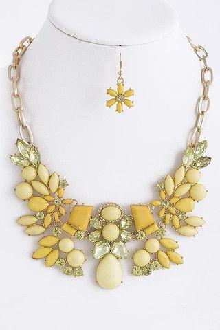 Coco & Simone - Ester Victorian Statement Necklace In Gold