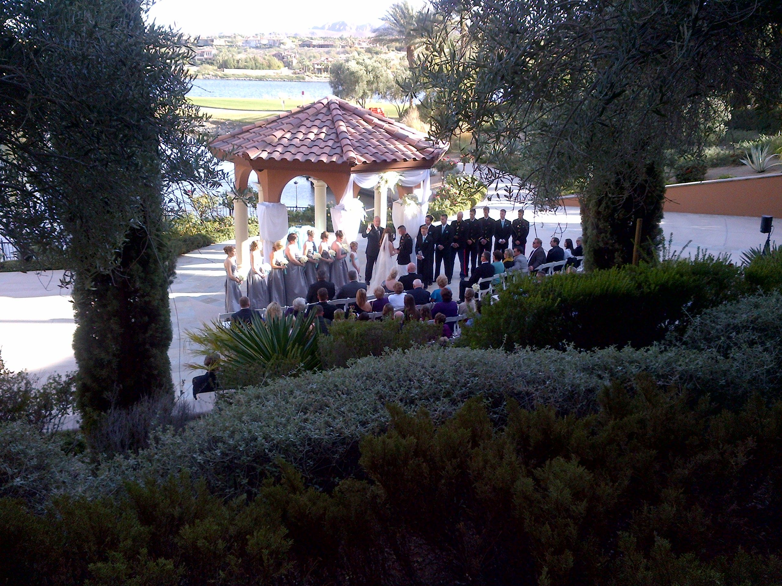 A view onto a wedding in our andalusian gardens las