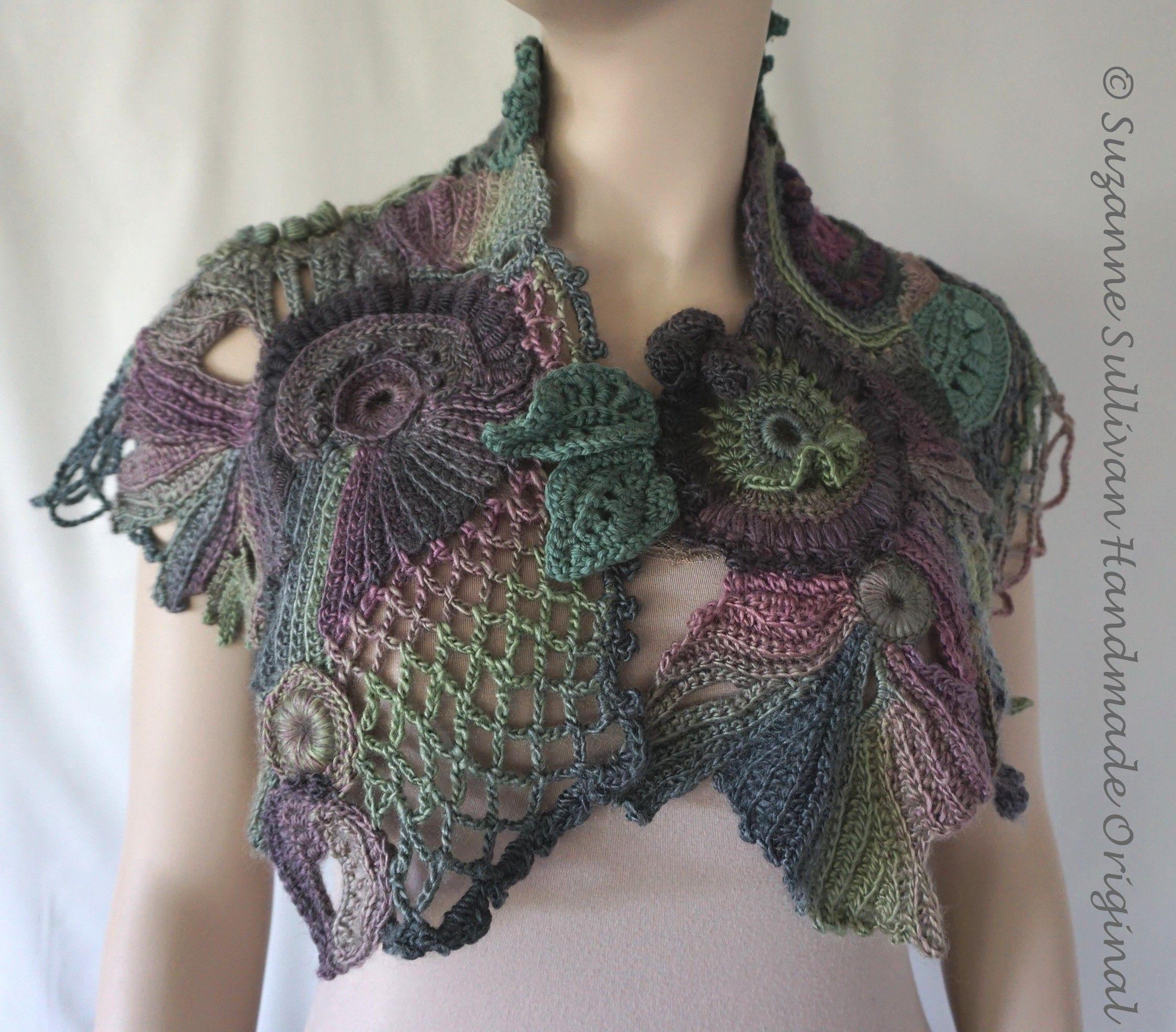 Freeform Crocheted Cape | Bufanda | Pinterest | Chal, Accesorios de ...