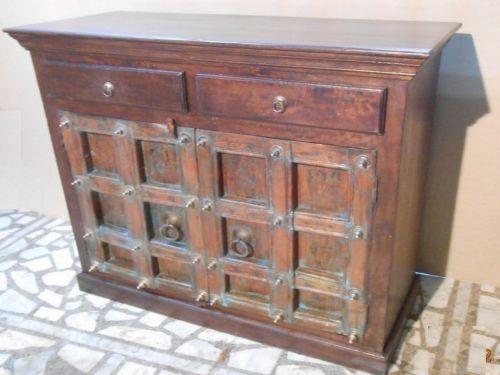 Old World Wooden Sideboard 2 Doors Mexican Pine Furniturerustic