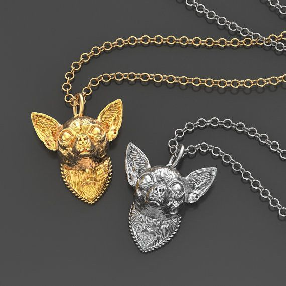 Chihuahua Breed Jewelry Heart Pendant