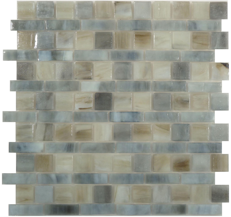 Best Botanical Glass Backsplash Unique Shapes Dusk Glossy 400 x 300