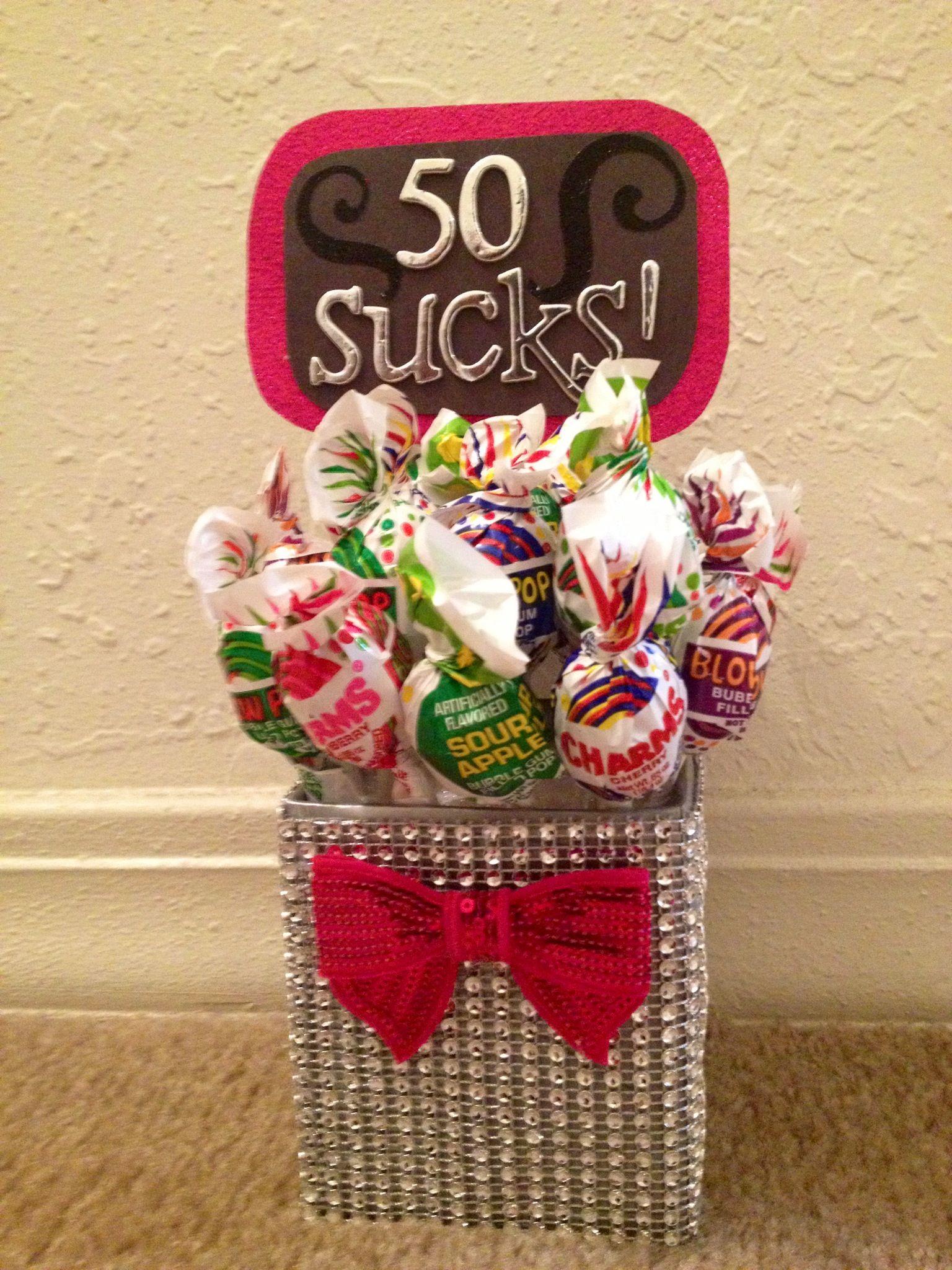 50sucks 50th birthday present for brads mom shhhh don