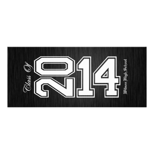 Elegant Black and White Class of 2014 Graduation Personalized