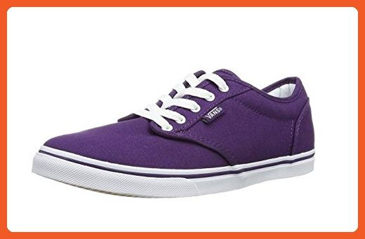 Vans Women s Shoes Atwood Low Skate Canvas Purple Grape Fashion Sneaker (5  B(M 6200e9b2c5b